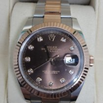 Rolex Datejust II pre-owned 41mm Brown Date Gold/Steel