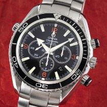 Omega Seamaster Planet Ocean Chronograph Stål 45.5mm Svart