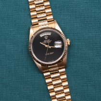 Rolex Day-Date 36 Or jaune 36mm Noir Sans chiffres France, Paris