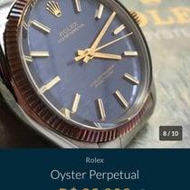 Rolex Oyster Perpetual 34 Ouro/Aço 34mm Azul Sem números Brasil, Rio de Janeiro