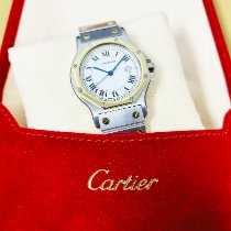 Cartier Santos (submodel) Gold/Steel 30mmmm White United States of America, California, Pasadena