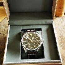 Hamilton Khaki Pilot pre-owned 46mmmm Black Date Weekday Leather