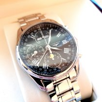 Longines Master Collection pre-owned 40mm Silver Moon phase Chronograph Date Weekday Month Steel