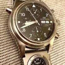 IWC Fliegeruhr Doppelchronograph Stahl 39mm Schwarz Arabisch