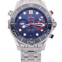 Omega Seamaster Diver 300 M nouveau Remontage automatique Chronographe Montre avec coffret d'origine et papiers d'origine 210.30.44.51.03.002