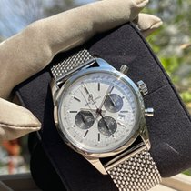 Breitling Transocean Chronograph pre-owned Silver Steel