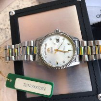 Orient (オリエント) ステンレス 36mm 自動巻き Orient Oyster All-Silver President (2EV00002SY) HOMAGE, RARE 新品