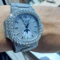 Patek Philippe Nautilus Patek Philippe Nautilus Full Diamond set Very good Steel 40.5mm Automatic UAE, DUBAI