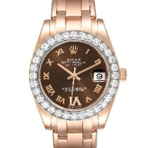 Rolex Lady-Datejust Pearlmaster Rose gold 34mm Brown Roman numerals