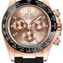 Rolex 116515LN Pink Baguette Oysterflex Pозовое золото 2021 Daytona 40mm новые