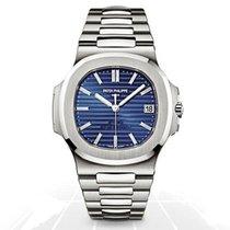 Patek Philippe Nautilus Platinum 40mm Blue No numerals