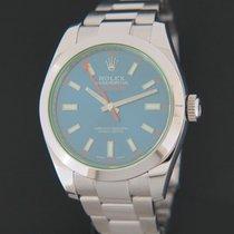 Rolex Milgauss Acier 40mm Bleu
