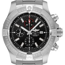 Breitling Super Avenger new Automatic Chronograph Watch with original box A13375101B1A1