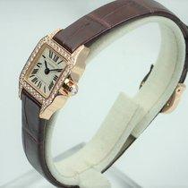 Cartier Rose gold Quartz White 18.7mm Santos Demoiselle