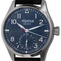 Alpina Startimer Pilot Manufacture Stahl 44mm Grau Arabisch