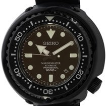 Seiko Marinemaster pre-owned Black Date Rubber