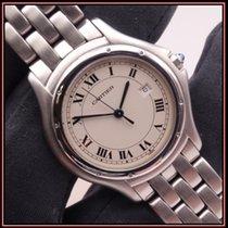 Cartier Cougar Сталь 33mm Белый Римские