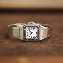 Cartier Stahl Automatik Weiß 29mm gebraucht Santos (submodel)