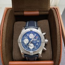Breitling Silver Automatic Blue 43mm pre-owned Avenger II