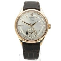 Rolex Cellini Dual Time Rose gold 39mm Silver No numerals