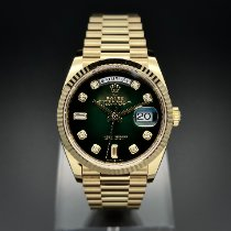 Rolex Day-Date 36 Yellow gold 36mm Green No numerals