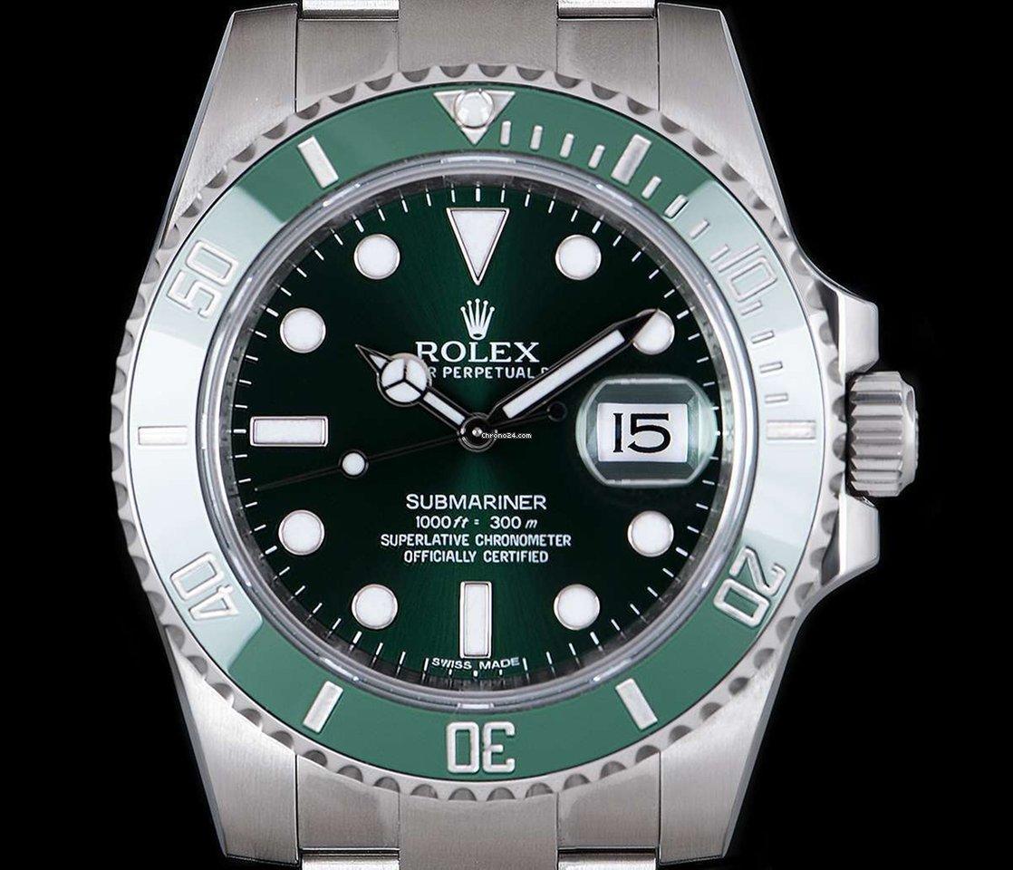Rolex Submariner Date 116610LV Hulk pre-owned