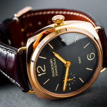 Panerai Radiomir 3 Days GMT Rose gold 47mm Black Arabic numerals