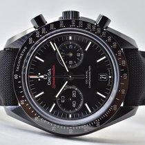Omega Keramik Automatik Schwarz Keine Ziffern 44,25mm gebraucht Speedmaster Professional Moonwatch