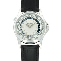 Patek Philippe World Time White gold 37mm Silver United States of America, California, Beverly Hills