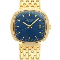 Patek Philippe Beta 21 Желтое золото 43mm Синий