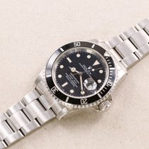 Rolex Steel Automatic Black 40mm pre-owned Submariner Date