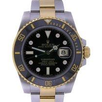 Rolex Submariner Date Gold/Steel 40mm Black No numerals