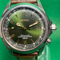 Seiko Steel Automatic Green Arabic numerals 38mm pre-owned Spirit
