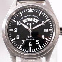 IWC Fliegeruhr Spitfire UTC Stahl 39mm Schwarz Arabisch