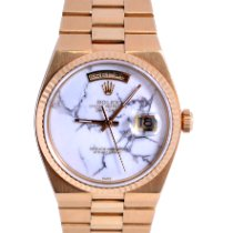 Rolex Day-Date Oysterquartz Yellow gold 36mm White No numerals