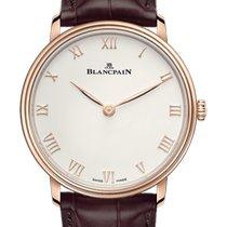 Blancpain Villeret Ultraflach neu 2021 Handaufzug Uhr mit Original-Box und Original-Papieren 6605-3642-55B