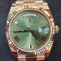 Rolex Day-Date 40 Rose gold Green Roman numerals UAE, Dubai