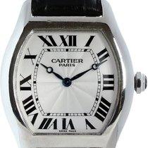 Cartier Platin Automatik Silber Römisch gebraucht Tortue