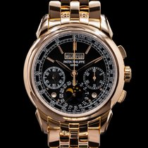 Patek Philippe White gold Automatic 41mm Perpetual Calendar Chronograph