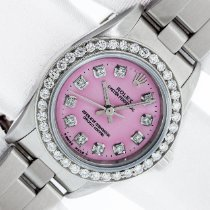 Rolex Steel Automatic Pink 25mm pre-owned Oyster Perpetual