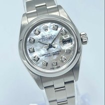 Rolex Oyster Perpetual Lady Date brugt 26mm Perlemor Dato Stål