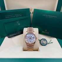 Rolex Rose gold Automatic Mother of pearl No numerals 36mm new Day-Date 36