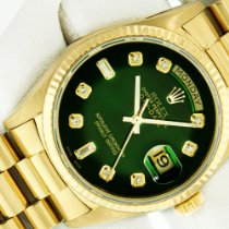 Rolex Day-Date 36 Yellow gold 36mm Green United States of America, California, Los Angeles