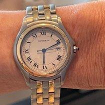 Cartier Goud/Staal 33mm Quartz 187904 tweedehands