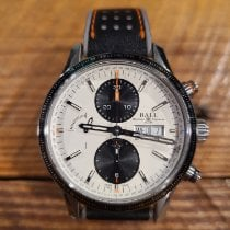 Ball Fireman Storm Chaser pre-owned 42mm Chronograph Date Weekday Tachymeter Calf skin