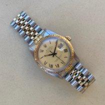Rolex Datejust Золото/Cталь 36mm Желтый Без цифр