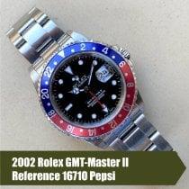Rolex GMT-Master II Aço 40mm Preto Sem números