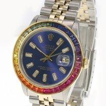 Rolex Datejust Золото/Cталь 36mm Синий Без цифр
