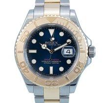 Rolex Yacht-Master 40 gebraucht 40mm Blau Datum Gold/Stahl