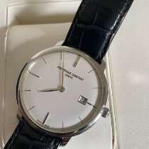Frederique Constant Slimline Automatic pre-owned 40mm Silver Date Leather